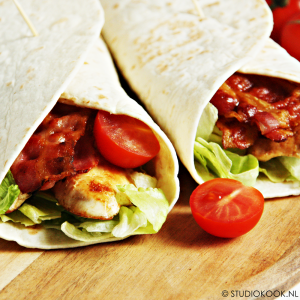Bacon-chicken wraps