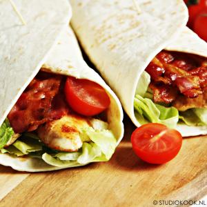 Bacon-chicken wraps