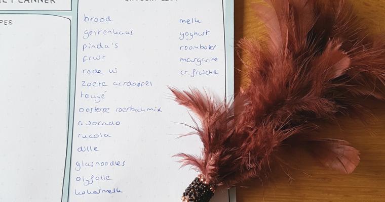 Het boodschappenlijstje van… Sandra