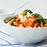 Vegetarische couscous met harissa