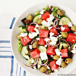 Griekse salade met watermeloen