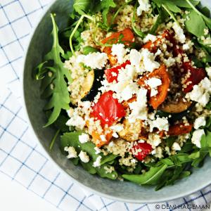 couscoussalade met geroosterde groenten en feta