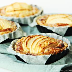 makkelijke appeltaartjes met bladerdeeg, mascarpone en speculaaskruiden