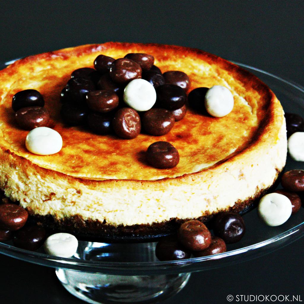 witte chocolade cheesecake met pepernoten