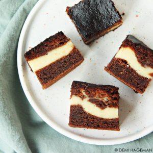 brownies met cheesecakevulling