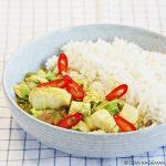 Curry met pangafilet en Chinese kool