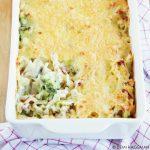Pasta ovenschotel met kaassaus en broccoli