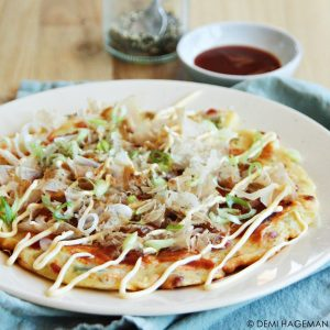 okonomiyaki - Japanse pannenkoek