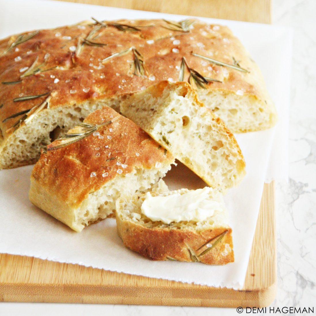 rozemarijnbrood zonder kneden