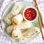 Springrolls met garnalen (6 ingrediënten)