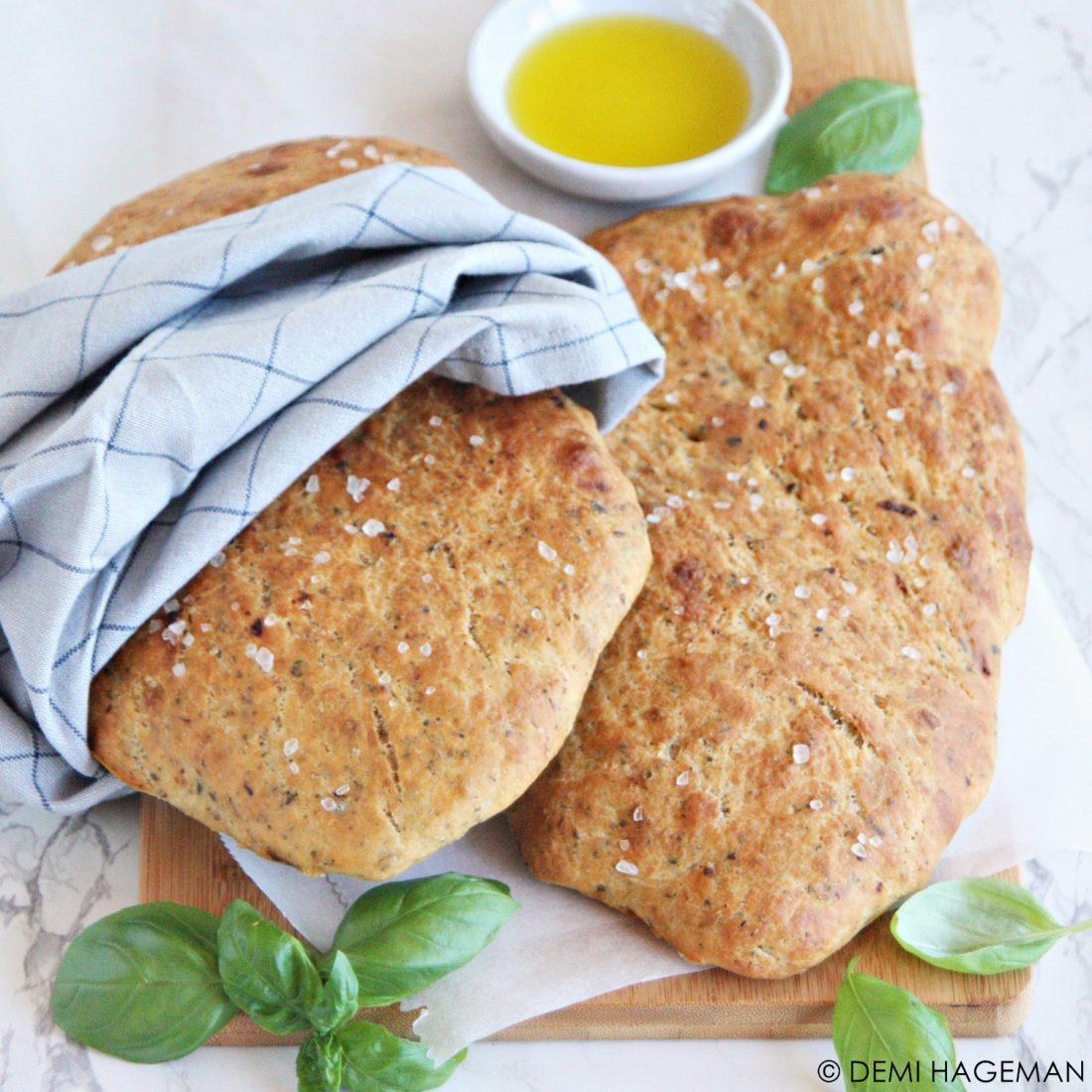 italiaans brood zonder kneden