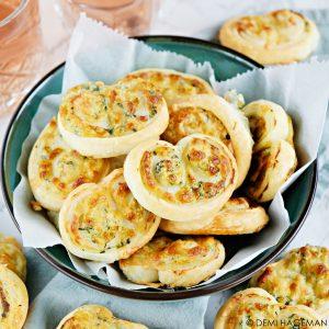 kaasvlinders met spinazie en ricotta
