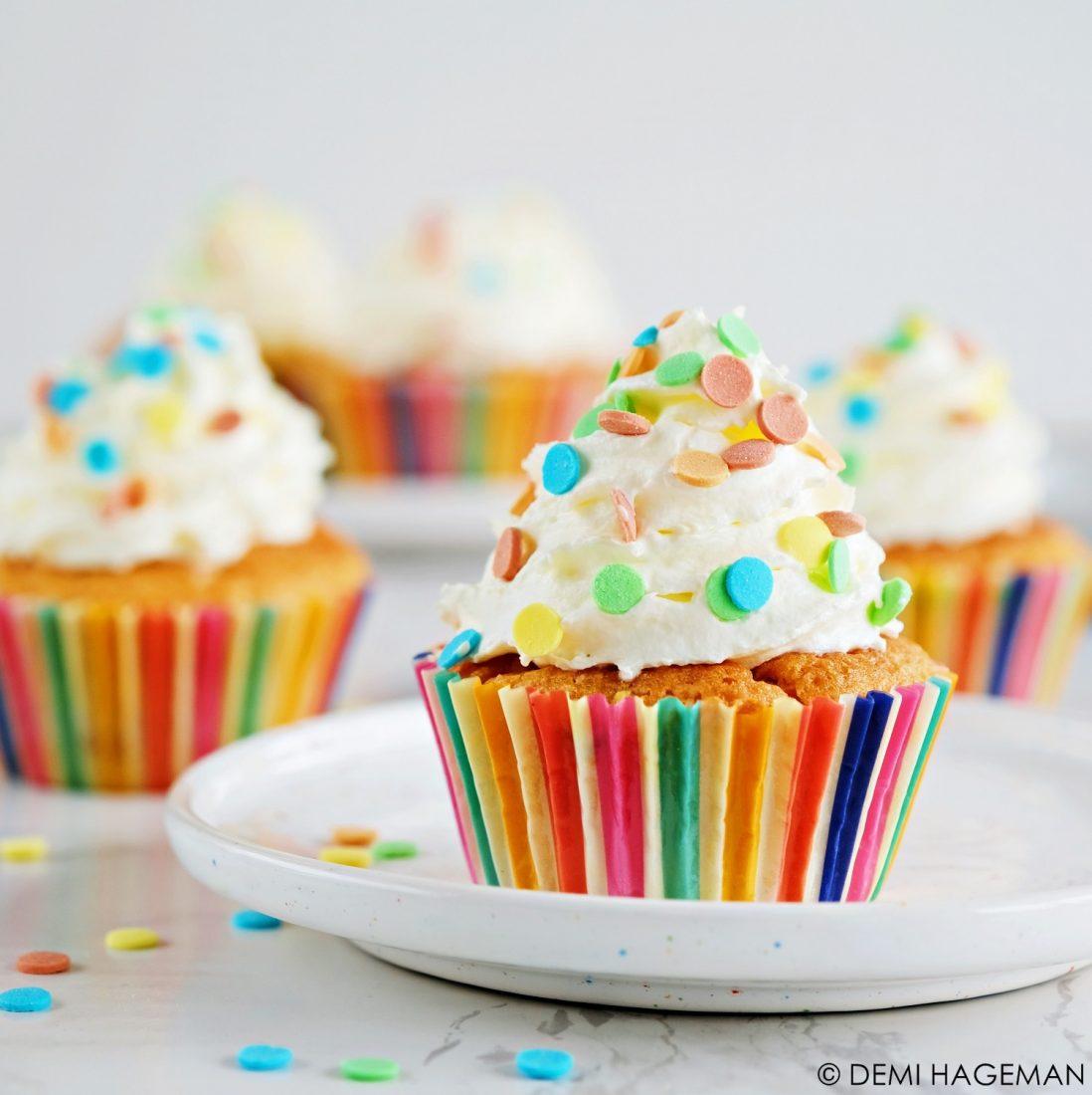 confetti cupcakes recept