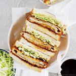 Katsu sando - Japanse sandwich met krokante schnitzel