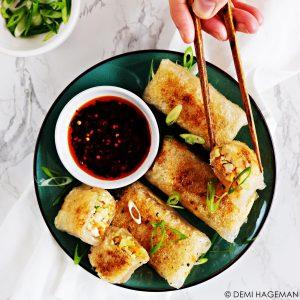 rijstvel dumplings